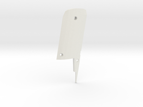 T6A Throttle Grip Top Closing plate in White Natural Versatile Plastic