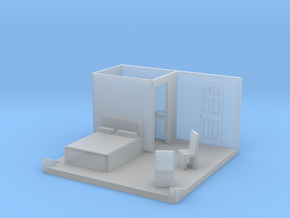 O Scale Bedroom Interior in Smooth Fine Detail Plastic