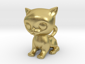 Cute Baby Cat in Natural Brass