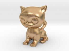 Cute Baby Cat in Natural Bronze