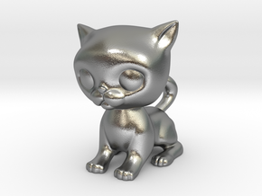 Cute Baby Cat in Natural Silver