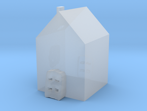 Tiny House in Smooth Fine Detail Plastic