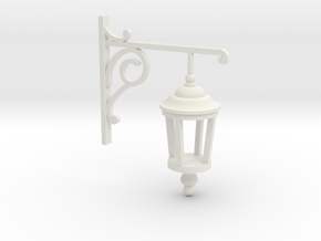 Gas Lamp in White Natural Versatile Plastic