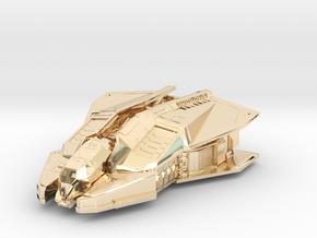 Vulture: Elite Dangerous in 14K Yellow Gold: 1:500
