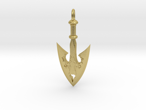 JoJo Arrow Pendant in Natural Brass