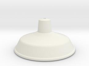 Tin Hat Shade in White Natural Versatile Plastic