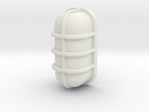Bulk Head in White Natural Versatile Plastic