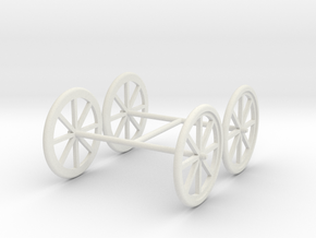 Small Cart wheels in White Natural Versatile Plastic