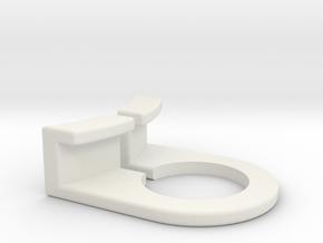 TRS Fork Switch Bracket  in White Natural Versatile Plastic