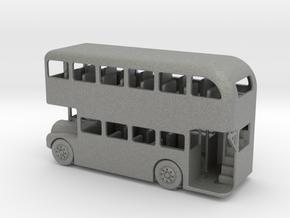 HO Scale Double Decker Bus in Gray PA12