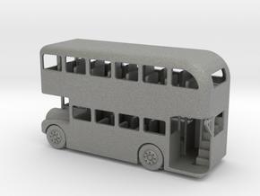 S Scale Double Decker Bus in Gray PA12