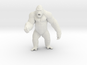 King Kong Kaiju Monster Miniature for games & rpg in White Natural Versatile Plastic