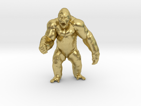 King Kong Kaiju Monster Miniature for games & rpg in Natural Brass
