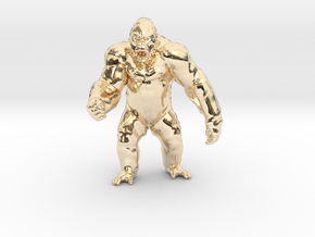 King Kong Kaiju Monster Miniature for games & rpg in 14k Gold Plated Brass