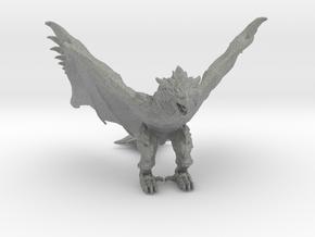 Monster Hunter Rathalos Dragon Miniature games rpg in Gray PA12