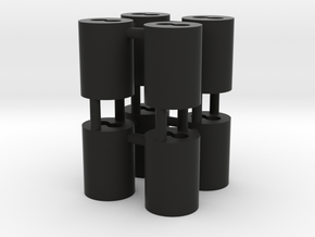 1:8 BTTF DeLorean fiber cilinders in Black Natural Versatile Plastic