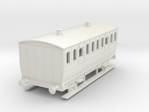 0-76-mgwr-4w-3rd-class-coach in White Natural Versatile Plastic