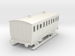 0-50-mgwr-4w-3rd-class-coach in White Natural Versatile Plastic
