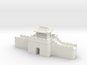 the great wall of china 1/350 gate pass roof  in White Natural Versatile Plastic