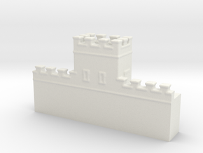 Hadrian's  wall 1/600 turret thin  in White Natural Versatile Plastic