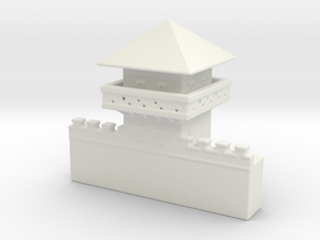 hadrian's  wall  Watchtower 1/600  in White Natural Versatile Plastic