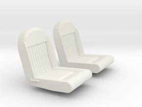 TSIV5 Mk IV seats (no headrests) in White Natural Versatile Plastic