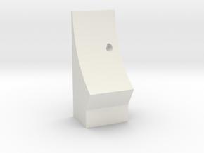 T6 Flat Base Stop Blocks Version #1 in White Natural Versatile Plastic