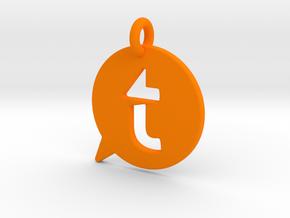 tappytalk t with a loop in Orange Processed Versatile Plastic
