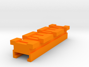 MicroShots Rail to Nerf Rail Adapter (3 Slots) in Orange Processed Versatile Plastic