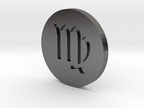 Virgo Coin in Polished Nickel Steel