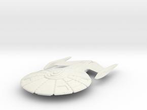 "Federation Insignia Class  V2  5.5"" in White Natural Versatile Plastic"