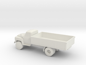 HO Scale Flat Bed Truck in White Natural Versatile Plastic