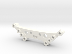 Shock Drop Fits Traxxas Rustler Slash 4X4 Chassis in White Processed Versatile Plastic