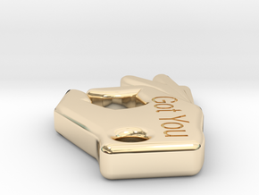 got you in 14k Gold Plated Brass: Small