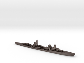 Raimondo Montecuccoli light cruiser 1:3000 WW2 in Polished Bronzed-Silver Steel