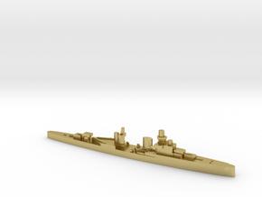 Luigi Cadorna light cruiser 1:3000 WW2 in Natural Brass
