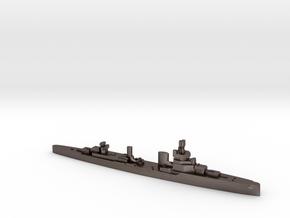 Bartolomeo Colleoni cruiser 1:3000 WW2 in Polished Bronzed-Silver Steel