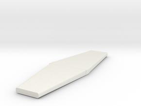 P-51 Horizontal stabilizer in White Natural Versatile Plastic