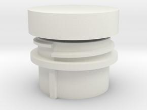Bulkhead Feedthrough - screw cap in White Natural Versatile Plastic