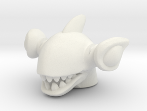 Shark Rulon Head (Multisize) in White Natural Versatile Plastic: Large