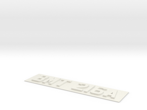 REG PLATE in White Natural Versatile Plastic