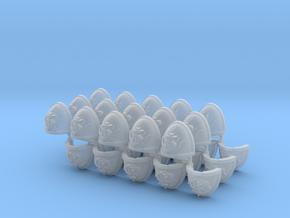 Commission 81 1-3 Mk7/8 Shoulder pads in Smooth Fine Detail Plastic