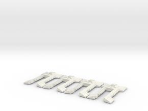 Nave Xenos x4 in White Natural Versatile Plastic