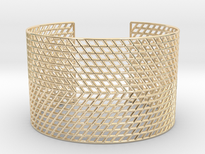 Mesh Grid Cuff in 14k Gold Plated Brass