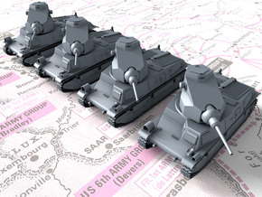 1/285 (6mm) French SARL 42 Medium Tanks x4 in Smoothest Fine Detail Plastic