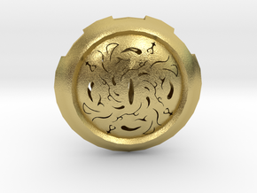 Hollow Eye Medallion  in Natural Brass