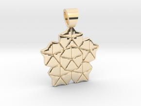 Golden ratio tiling - Lotus [pendant] in 14k Gold Plated Brass