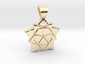 Golden ratio tiling - Star [pendant] in 14K Yellow Gold