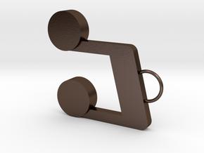 Note Earring in Polished Bronze Steel
