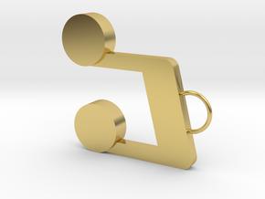 Note Earring in Polished Brass